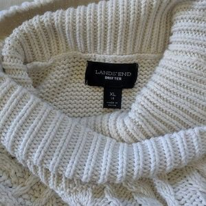 Lands' End Drifter Cream Sweater
